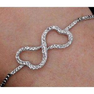 Diamond Bracelet Heart 4 Carats Women Jewelry 14K